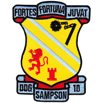 DDG-10 USS Sampson Patch