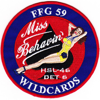 HSL-46 Det 6 Patch Miss Behavin Wildcards