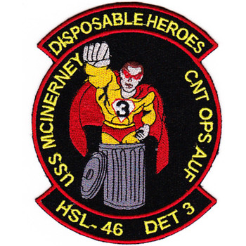 HSL-46 Det 3 Patch Disposable Heroes USS McInerney