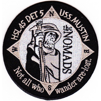 HSL-45 Det 5 USS Mustin Patch The Nomads