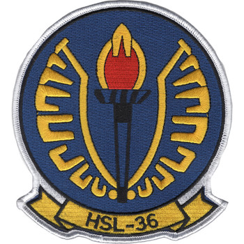 HSL-36 Lamplighters Patch -  Anti-Submarine Squadron Light