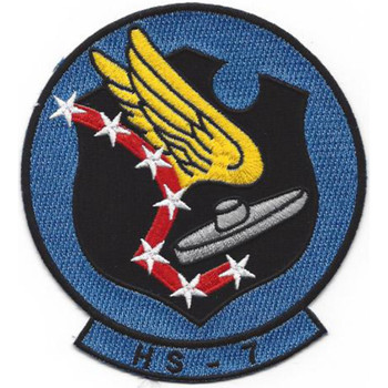 HS-7 Anti-Submarine Warfare Aviation Squadron Patch - Version B