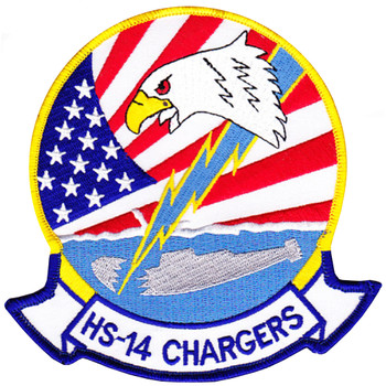 HS-14 Patch Chargers Red White Blue