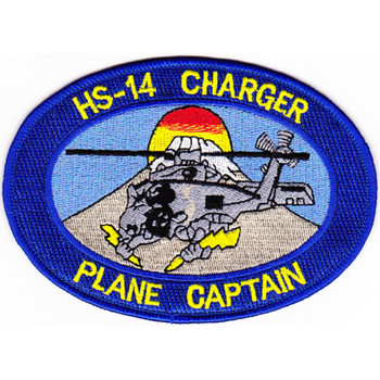 HS-14 Patch Chargers Plane Captain