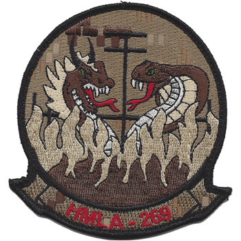 HMLA-269 Marine Light Attack Helicopter Desert Patch Hook And Loop - Tan