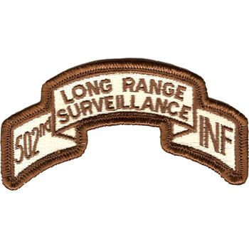 502nd LRS Infantry Desert Patch
