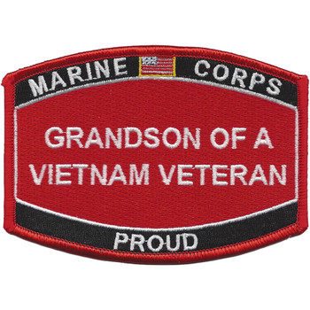 Grandson Of A Vietnam Veteran Patch USMC