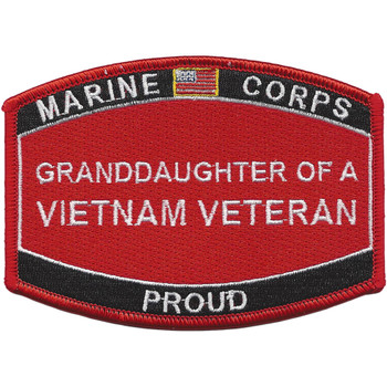 Granddaughter Of A Vietnam Veteran Patch USMC