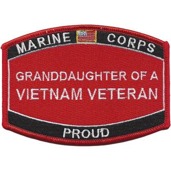 Granddaughter Of A Vietnam Veteran Patch USMC