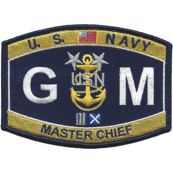 GMCM Master Chief Gunners Mate Patch