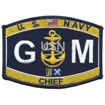 GMC Chief Gunner's Mate Rating Patch