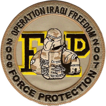 Force Protection Operation Iraqi Freedom Patch