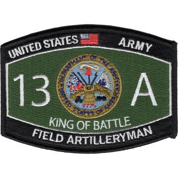 Field Artilleryman 13A MOS Patch