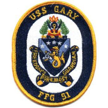 FFG-51 USS Gary Frigate Ship Patch