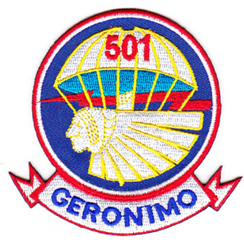 501st Airborne Infantry Regiment Patch Geronimo - Version E