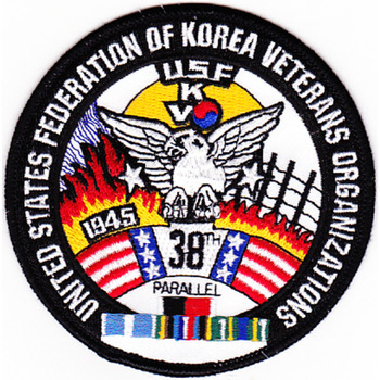Federation Of Korea Veterans Organizations 38th Parallel Patch