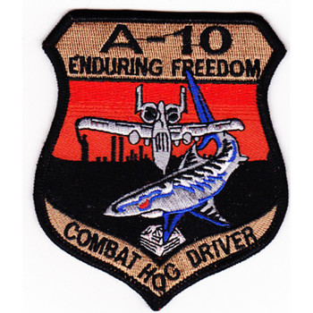 Fairchild Republic A-10 Thunderbolt II Patch Enduring Freedom
