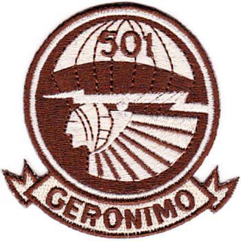 501st Airborne Infantry Regiment Patch Geronimo - F Version