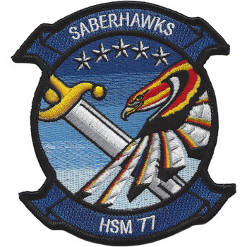 HSM-77 Navy helo maritime Squadron Patch