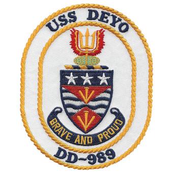 DD-989 USS Deyo Spruance Class Destroyer Patch