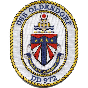 DD-972 USS Oldendorf Crest Patch