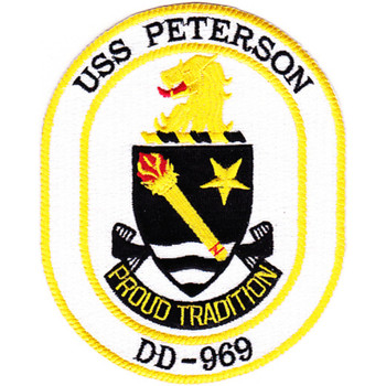 DD-969 USS Peterson Patch Proud Tradition
