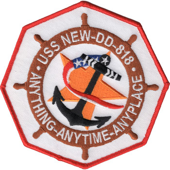 DD-818 USS New Patch Destroyer