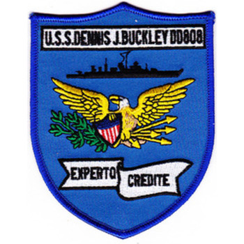 DD-808 USS Dennis J Buckley Patch - Version D