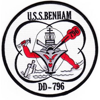 DD-796 USS Benham Patch