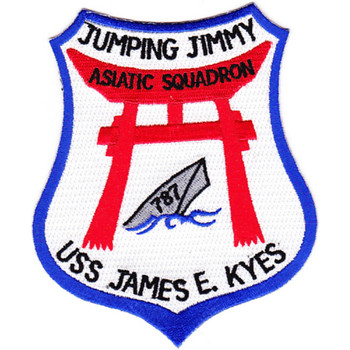 DD-787 USS James E Kyes Patch - Version B Jumping Jimmy