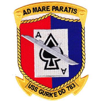 DD-783 USS Gurke Patch