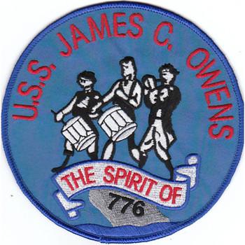 DD-776 USS James C Ownes Patch