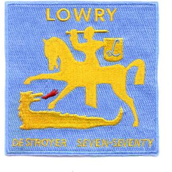 DD-770 USS Lowry Patch