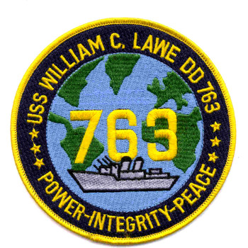 DD-763 USS William C Lawe Patch - Version A