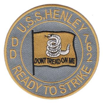 DD-762 USS Henley Patch