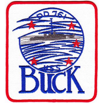 DD-761 USS Buck Patch