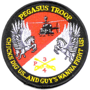 4th Sqaudron 3rd Aviation Cavalry Regiment Patch Pegasus Troop