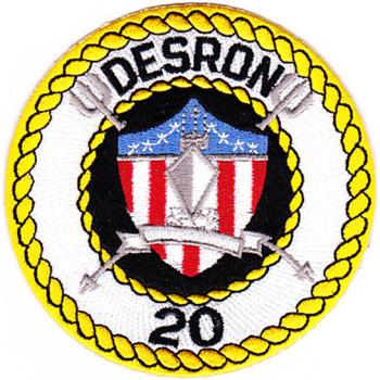 DESRON 20 Destroyer Squadron Patch