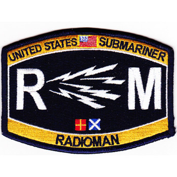 Deck Rating Submarine Radioman Rating Patch