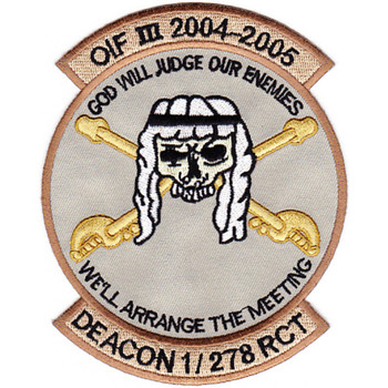 Deacon 1 278th Infantry Regimental Combat Team Patch