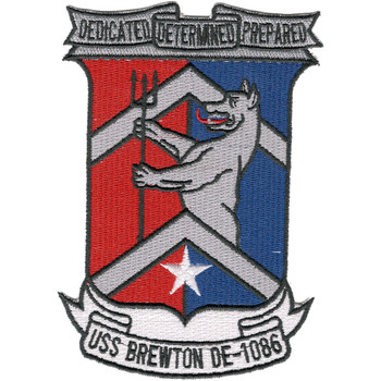 DE-1086 USS Brewton Patch