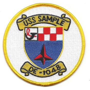 DE-1048 USS Sample Destroyer Escort Patch