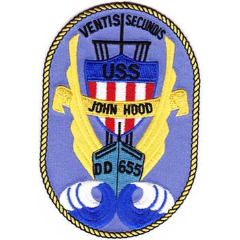 DD-655 A USS John Hood Patch