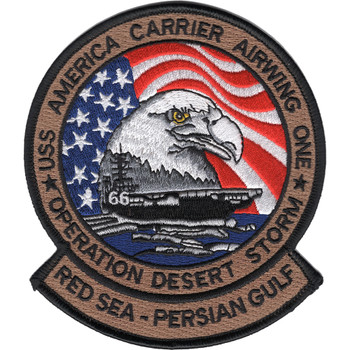 CVA-66 USS America Carrier Airwing One Patch Operation Desert Storm