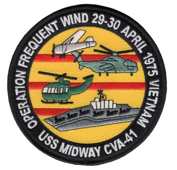 CVA-41 USS Midway Operation Frequent Wind Patch