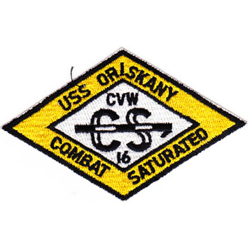 CVA-34 USS Oriskany CVW-16 Yellow Patch