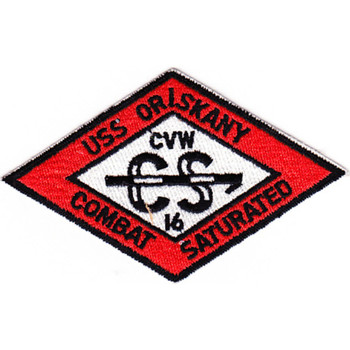 CVA-34 USS Oriskany CVW-16 Orange Patch