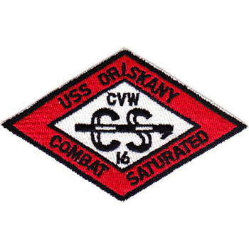 CVA-34 USS Oriskany CVW-16 Red Patch