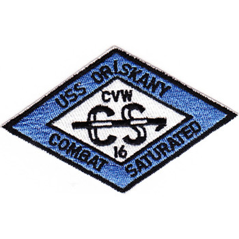 CVA-34 USS Oriskany CVW-16 Blue Patch