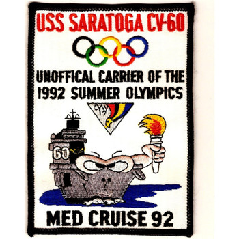 CV-60 USS Saratoga Patch Med Cruise 92